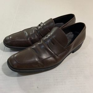 Ermenegildo Zegna Leather Loafer Dress Shoes 13